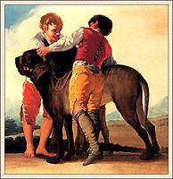 Boys With Mastiff, goya