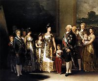 Charles IV and his family, 1800, goya