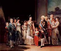 Charles IV of Spain and his family, 1800, goya