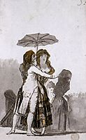 Couple with Parasol on the Paseo, 1797, goya