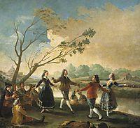 Dance of the Majos at the Banks of Manzanares, 1777, goya