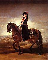 Equestrian portrait of Maria Luisa of Parma, 1788, goya