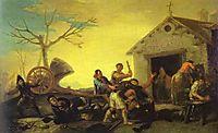 The Fight at the Venta Nueva, 1777, goya