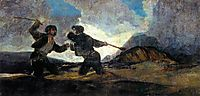 Fight With Cudgels, 1823, goya