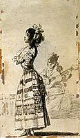 Girl Listening to a Guitar, 1799, goya