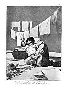 He broke the pitcher, 1799, goya