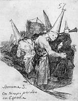 Holy Week in Spain in Times Past, 1824, goya