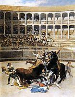 Injured by a picador Taurus, 1793, goya