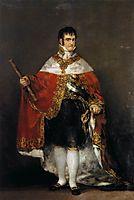 King Ferdinand VII with Royal Coat, 1814, goya