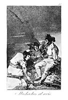 Lads getting on with the job, 1799, goya