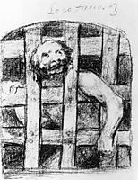 Lunatic behind Bars, 1828, goya