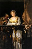 Maja and Celestina on a Balcony, 1812, goya