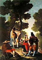 The Maja and the Masked Men, 1777, goya