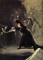 The man bewitched, 1798, goya