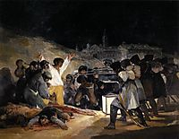 May 1808 execution of three Madrid defenders, 1814, goya