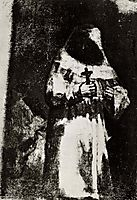 The monk, c.1824, goya
