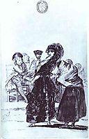 Old Beggar with a Maja, goya