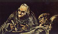 Old eating soup, 1823, goya