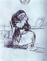 The Old Woman with a Mirror, goya