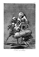 One to anothers, 1799, goya