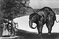 Other laws by the people or beast Absurdity, 1823, goya