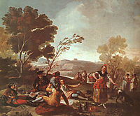 Picnic on the Banks of the Manzanares, 1776, goya