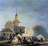 Pilgrimage to the church of San Isidro, 1788, goya