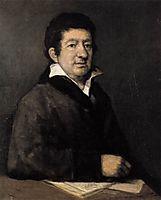 Portrait of the poet Moratín, 1824, goya