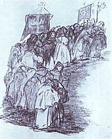 Procession of Monks, goya
