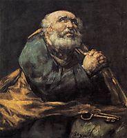 Repentant Saint Peter, 1823-25, goya