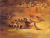 Scene of a bullfight, goya