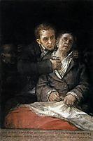 Self Portrait with Dr Arrieta, 1820, goya