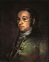 Self portrait with spectacles, c.1801, goya