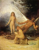 Sketch for Truth Rescued by Time, Witnessed by History, 1800, goya