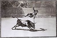 The Speed and Daring of Juanito Apiñani in the Ring of Madrid, 1816, goya