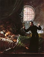 St. Francis Borgia Helping a Dying Impenitent, 1795, goya