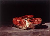Still life with three Salmon Steaks, 1808-12, goya