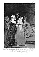 They say -yes- and give their hand to the first comer, 1799, goya