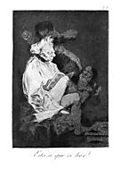 This certainly is reading, 1799, goya