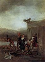 The traveling actors, 1794-98, goya