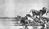 Unfortunate Events in the Front Seats of the Ring of Madrid, 1816, goya
