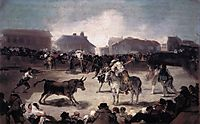 A Village Bullfight, 1814, goya