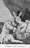 What Will he Die?, 1799, goya