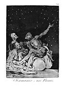 When day breaks we will be off, 1799, goya