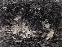 Will she rise again?, 1814, goya
