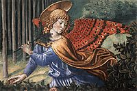 Angels Worshipping (detail), 1461, gozzoli