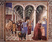 Arrival of St. Augustine in Milan, 1465, gozzoli