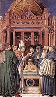 Baptism of St. Augustine, 1465, gozzoli