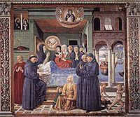 Death of St. Monica, 1465, gozzoli