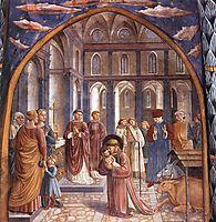 Establishment of the Manger at Greccio, 1452, gozzoli